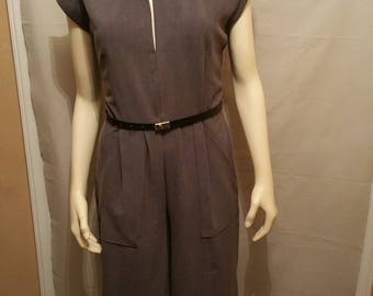 Suiting Twill Stretch Gaucho Jumpsuit
