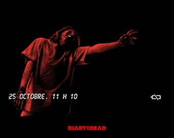 "POSTER ""DIARY of the DEAD"" by Romero"