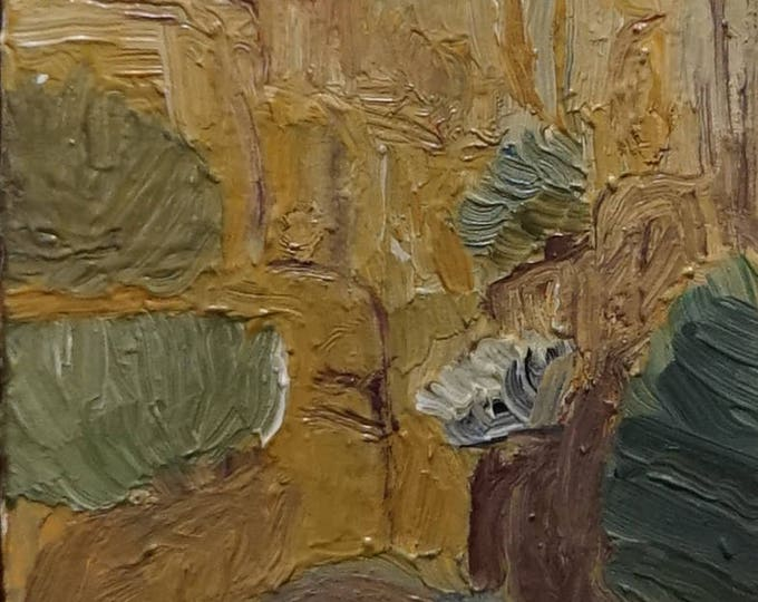 Yellow Cliffs, Landscape Oil Painting on board.