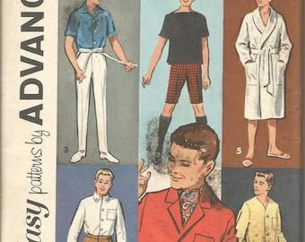 1960s Ken Wardrobe Barbie's Boyfriend Six Patterns in One Envelope Advance 2899 Uncut FF Vintage Doll Clothes Sewing Pattern