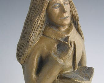 St. Dymphna: Patron Psychiatrists, and against Anxiety, Stress, Worry; Handmade Statue