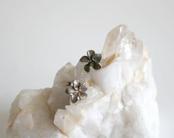 Sterling Flower Stud Earrings
