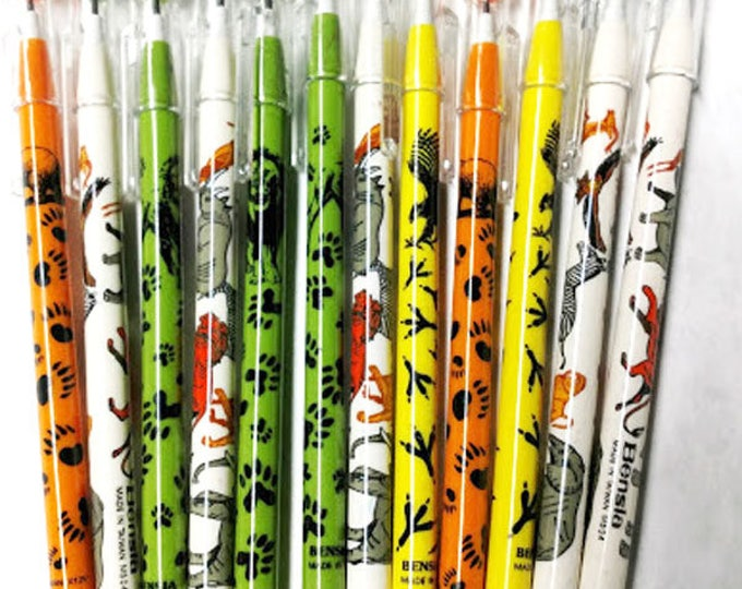 New! Animal Pop O Point Pencils! Assorted Animal Tracks and Designs! Great for Class stores,  party favors and more! .29 each sold in dozens