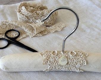 Baby Hanger, Keepsake Hanger, Christening Dress Hanger, Photo Prop Hanger, Antique Linen Hanger, Victorian Hanger, Display Hanger