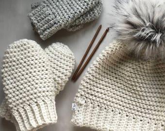 CROCHET PATTERN, The Journey Mittens, Crochet Mittens, Easy Pattern, Mitten Pattern, Crochet Mittens, Pattern, Crochet
