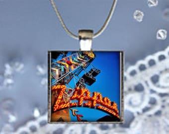 Pendant Necklace Carnival Ride Zipper