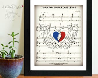 Grateful Dead, Turn On Your Love Light, on Music Sheet, Print