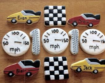 One Dozen Raceing Sugar Cookiesb