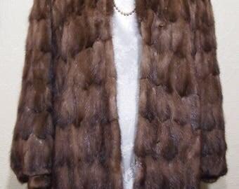 sale 30.00 off sz. 8 BROWN MINK COAT Fur Coat Jacket
