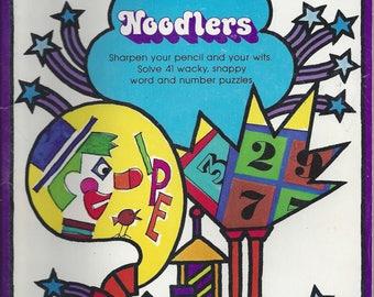 Vintage The Fun Works Noodlers Children's Activity Book, 1977