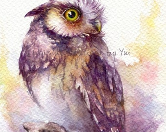 """PRINT – Sparkling eyes- Watercolor painting 7.5 x 11"""""""