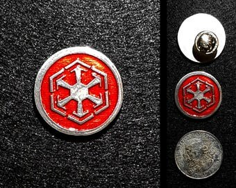 Handcast Pewter Sith Pin - one inch
