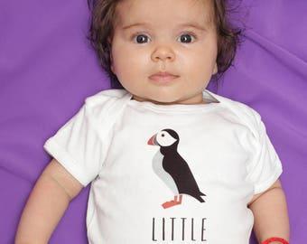 Puffin baby clothes, Puffin baby bodysuit, puffin baby onesie, puffin baby shower gift