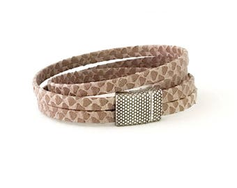 Brown Double Wrap Leather Bracelet