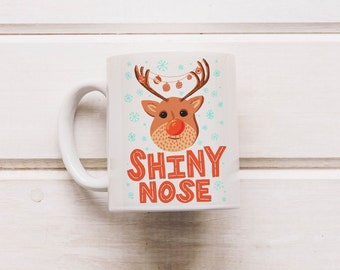 Coffee Mug, Christmas Gift, Rudolph Mug, Hot Chocolate Mug, Stocking Filer, Festive Mug, Christmas Eve Coffee Mug, Tea Mug, Holiday Gifts