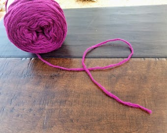 Recycled Yarn→100% Wool Purple Orchid/Fuchsia/Magenta- Worsted Weight #4 Medium - reclaimed yarn, Eco friendly yarn - Craft. Reuse. Repeat.™
