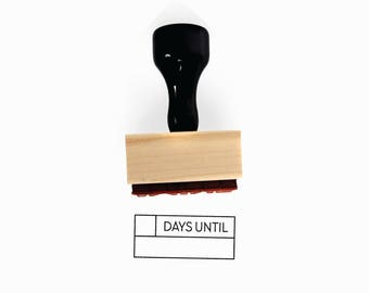 Days Until Stamp | Planner Countdown for Minimalist Vacation Journaling | Simple Minimalist | Wood Mounted Rubber Stamp by Creatiate | BJ1