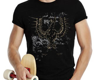 Eagle T Shirt , Mens T Shirt , War Eagle Shirt , American Apparel TShirt , Graphic T Shirt , Printed Tee , Short Sleeve Shirt
