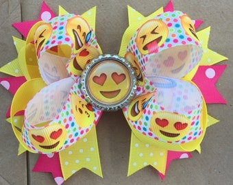 Large Emoji Hair Bow
