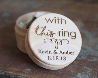 With This Ring Engraved Ring Box Wedding Ring Box