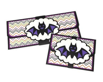 Halloween card, money card, cash gifting, money envelope, gift card holder, Halloween treat, trick or treat, Halloween candy alternative