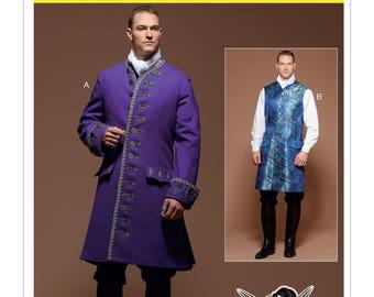 McCall's Pattern M7585 Men's Three-Quarter-Length Coat and Vest Sizes 38-44 NEW