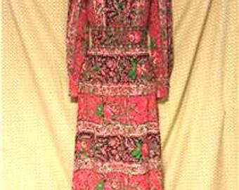 Vintage Flower Power Vintage Dress #903A