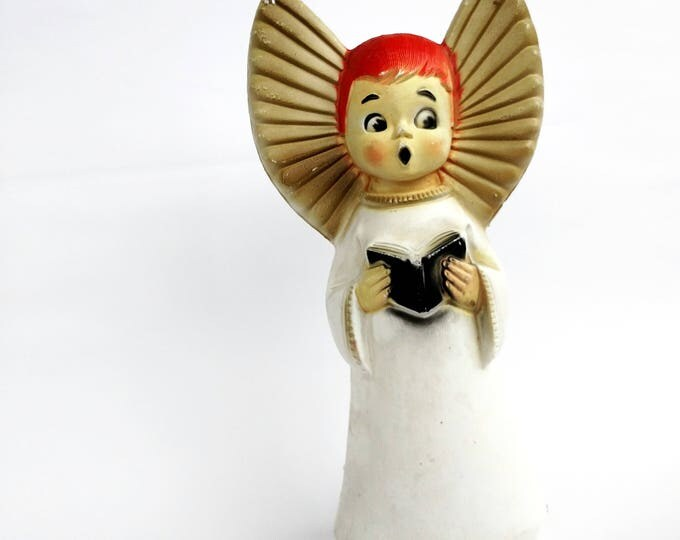 Vintage 1960's Large Molded Plastic Christmas Angel