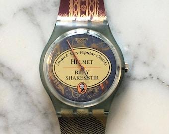 Vintage Swatch Watch, Helmet (Hamlet) Swatch, GG173, 1998