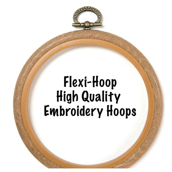 Flexi hoop plastic embroidery various sizes and shapes