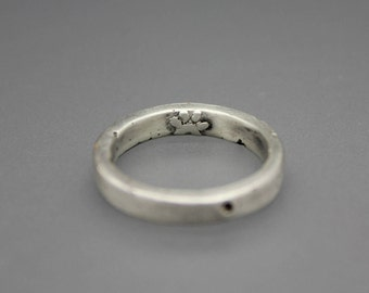 Paw Print Ring, Sterling Ring, Cremation Ring, Cremation Jewelry, Silver Cremation Jewelry, Memorial Ring, Memorial Jewelry, Ring With Ash