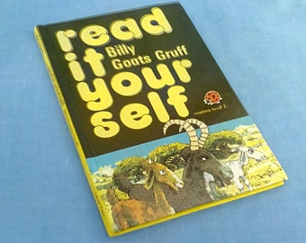Vintage Ladybird Book Billy Goats Gruff - Read It Yourself Series 777 Level 2 - 85p - 1980s Glossy Covers
