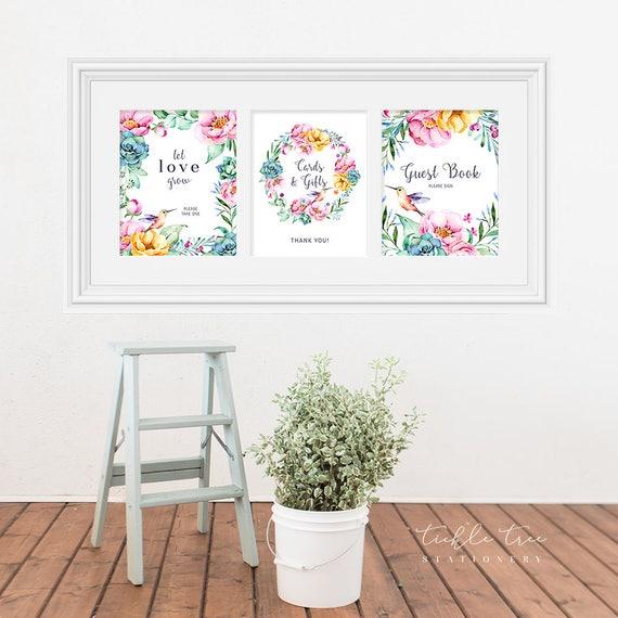 Reception Signs/Various - Hummingbird Garden