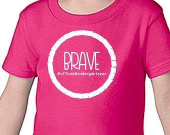 Brave kindergartener shirt  - Brave first day of school - brave student - first day of school shirt - pink school shirt - brave shirt