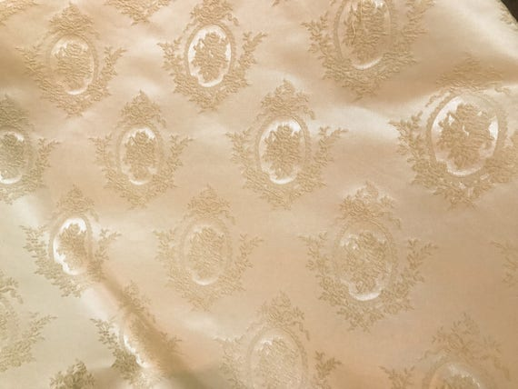 Vintage Ivory Brocade Home Decor Fabric From Fencelinestudio On Etsy Studio