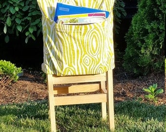 Seat Sacks // Green Willow // Chair Pockets // Teacher Classroom Organization <<16 inch VALUE>> End of Year SALE CoffeeKidsNDolls