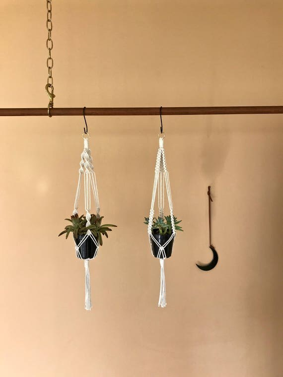 "Macrame Plant Hanger - 25"" Knotted"