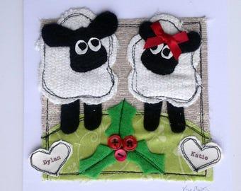Irish Christmas Cards Personalized Christmas Cards Sheep Christmas Card Wife Christmas Card Husband Christmas Card Mr and Mrs Christmas