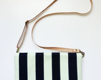 Crossbody Bags for Women Colorblock Bag Foldover Clutch Striped Purse Navy and Mint Bag Tribal Arrow Canvas Bag Wool Felt Bag