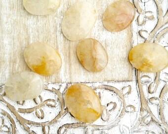 Yellow Topaz Worry Stone