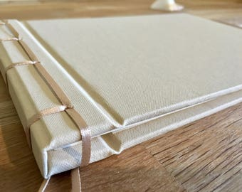 ribbon-bound guest book - 30cm square