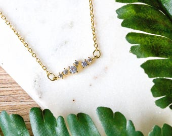 Dainty star celestial CZ choker necklace | Delicate gold plated layering necklace | Gifts for her under 20 | Mother's day gift |