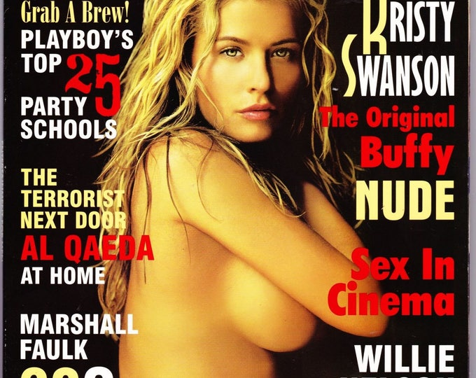 Playboy Magazine November 2002 with Buffy the Vampire Slayer's Kristy Swanson, County Music's Willie Nelson, Marshall Faulk