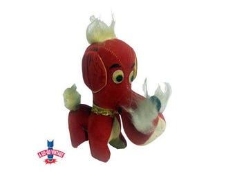 Vintage Dog Stuffed Animal, 1960s Jay Bee Japan Plush Hound Dog Toy