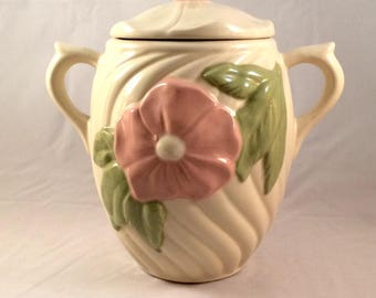 Vintage Wild Rose Covered Jar
