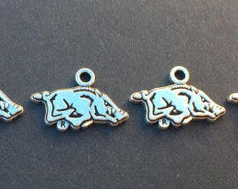 Arkansas Razorback Silver charm