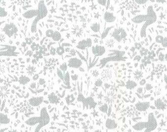 Shadow Garden on Gauze (Grey) -  Double Gauze - Sarah Jane - Sommer - Michael Miller Fabrics - 1 Yard