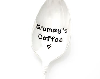 Grammy's Coffee spoon. Gift for Grammy. Hand stamped spoons by Milk & Honey.