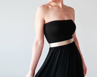 Light rose gold waist belt- blush gold leather look women's dress belt- modern and minimalist bridal belt