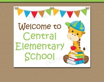 Welcome to School Sign, Printable Welcome Sign, EDITABLE Back to School Sign, School Office Sign, School Library Sign Instant Download Sign